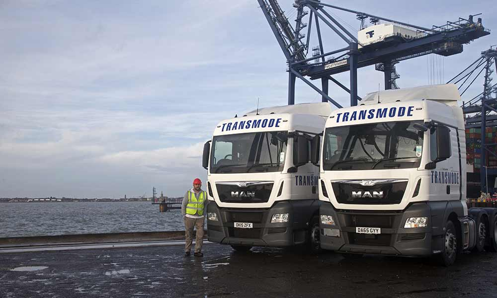 Two Transmode Trucks and a UK Driver